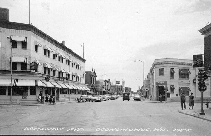 downtown oconomowoc 1962